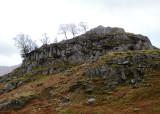 Castle How, a good picnic spot at the turn towards Blea tarn