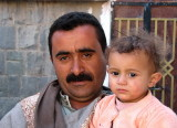 Proud father in Shibam