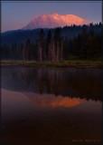 Reflection of Lassen Peak from Hat Lake