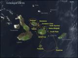 Galapagos Satellite Map