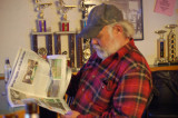 Dale reading The Break