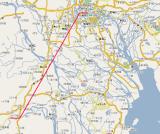 Shiukou 水口 to Guangzhou 广州 Map