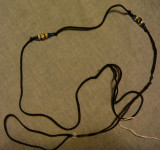 Lead 19- Black cord with blue ceramic beads