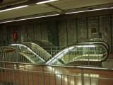 Barcelona metro escalator