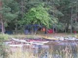 Vy från middagsplatsen över tältplatsen på Lund