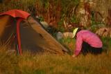 Under tiden hade Ritta satt upp sitt tält, ätit middag & gått en sväng.....