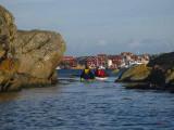 Så vi fick en ganska behaglig paddling till Vallerön.