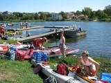 Vid kanotklubben Eskimå på Långö, packning av kajakerna