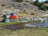Några av tälten på Arnö- Ornö