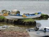 Anitas parkering av kajaken vid Torhamns udde