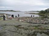 Inra Hamnskär labyrint gjord av en skolklass 2008