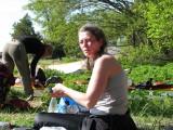 Kristina och Johanna vid kajaken