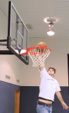 Ben Williams  dunks one for the camera