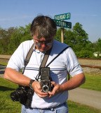 Willy Davis and his vintage Rolleicord at Burgin Ky