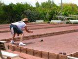 Bocce ball player