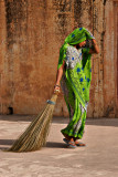 Sweeper, Amber Fort, India