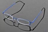 The blue eyeglasses !