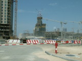 Early construction work at Burj Dubai.JPG
