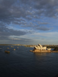 Setting sun over Sydney Harbour.JPG