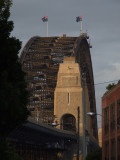 Harbour Bridge from the street Sydney.JPG