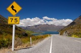 Road Sign Lake Hawea