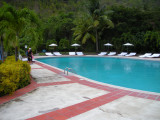 Huge pool at the resort on St. Lucia