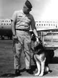 Capt Bob Sullivan & Nemo Between Braniff Flights