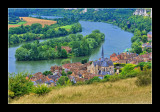Vue de la vallée de la Seine depuis chateau Gaillard