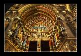Exterieur de la cathedrale de nuit