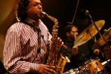 Rudresh Mahanthappa (sax), Damon Reid (drums)