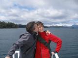 Mi cielo y yo flotando en lago Nahuel Huapi