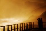 Misty sunset, West Bay