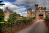 Front entrance, Powderham Castle, Devon (3023)