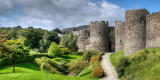 Path and battlements, Conwy Castle