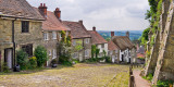 Looking down Gold Hill, Shaftesbury