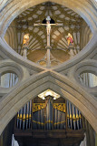 Organ pipes and scissor arch, Wells Cathedral