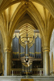 Arch and organ pipes, Wells Cathedral