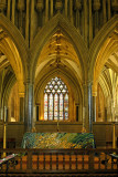 Golden light, Wells Cathedral