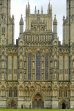 Close in on the front, Wells Cathedral