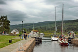 Through the locks at Fort Augustus