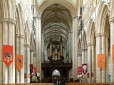 Beverley Minster ~ organ pipes and nave