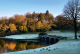 Frost and turf bridge, Stourhead (1572)
