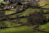 Fields and farmstead, West Dorset border