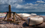 Boats and winch, Budleigh Salterton, Devon (3100)