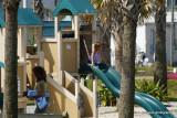 playground next to the pier