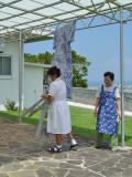 Learning to hang yukata