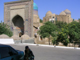 Samarkand - the incredibly beautiful Shah-i-zinda masoleum complex