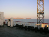 Aboard the freighter crossing the Caspian Sea