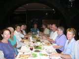 Baku - fabulous multi-course dinner in a caravansary