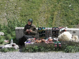 Northern Georgia - Caucasus Mountains - roadside craftswoman